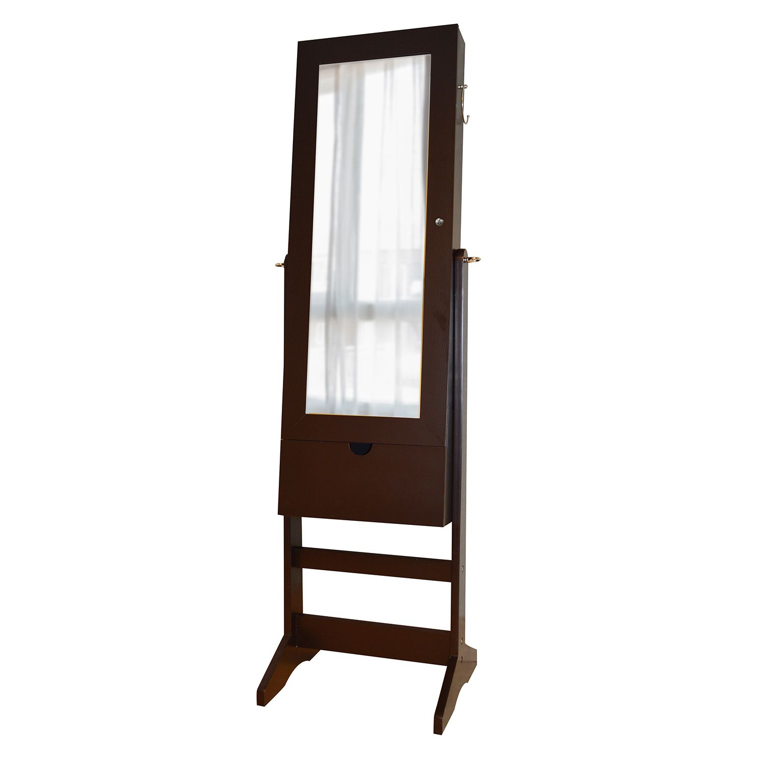 View Wall Floor OverTheDoor 3in1 Mirror Jewelry Cabinet