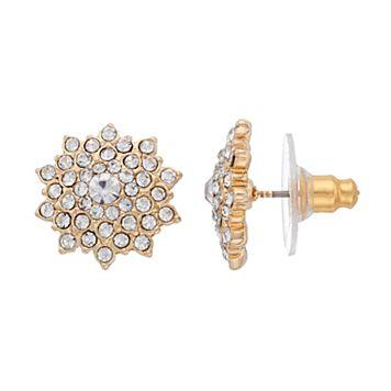 LC Lauren Conrad Pave Starburst Nickel Free Stud Earrings
