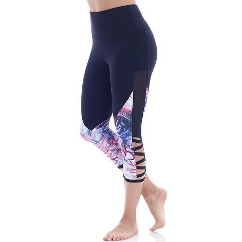Women's Balance Collection Esme Strappy Hem Capri Leggings