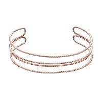 LC Lauren Conrad Twisted Multi Row Cuff Bracelet