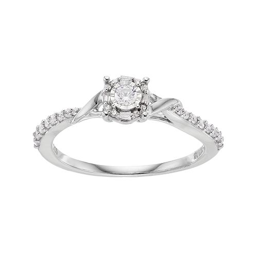 10k White Gold 1/4 Carat T.W. Diamond Twist Ring