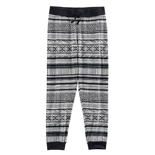 Girls 7-16 & Plus Size Mudd® Ribbed Waist Patterned Jogger Pants