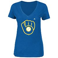 Women's Milwaukee Brewers Logo Tee