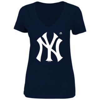 Women's New York Yankees Logo Tee