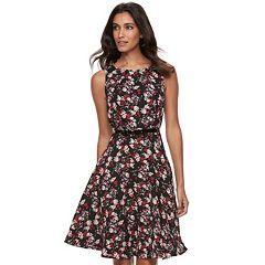 Women's ELLE™ Floral Fit & Flare Dress