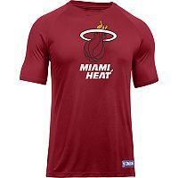 Men's Under Armour Miami Heat Primary Logo Tech Tee