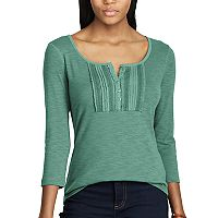 Women's Chaps Lace-Trim Top