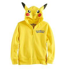 Boys 4-7 Pokemon Pikachu Zip Hoodie