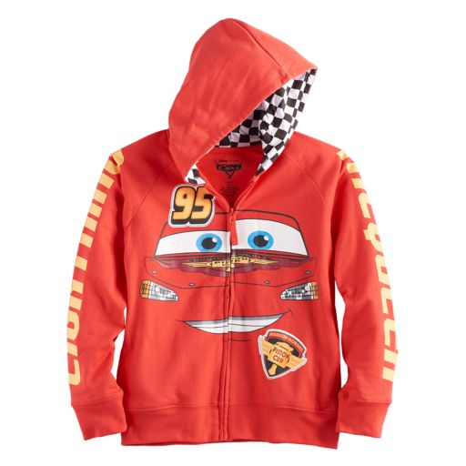 Disney / Pixar Cars Boys 4-7 Lightning McQueen Zip Hoodie