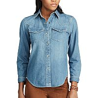 Women's Chaps Denim Western Shirt
