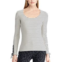 Women's Chaps Stretch Jersey Scoopneck Top