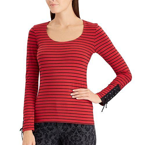 Women's Chaps Stretch Jersey Scoopneck Top