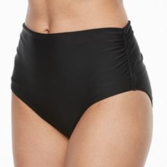 Women's Croft & Barrow® Ruched High-Waisted Bikini Bottoms