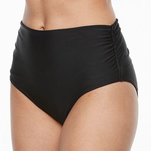 Women's Croft & Barrow® Ruched High-Waisted Bikini Bottoms