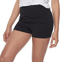 Junior's SO® Black Ruched Yoga Shortie