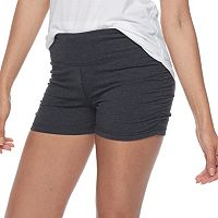 Junior's SO® Gray Ruched Yoga Shortie