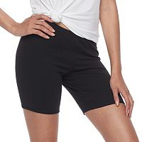 Junior's SO® Black Long Bike Shorts
