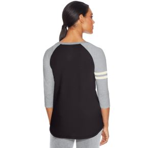 Women's Champion Striped Raglan Graphic Tee