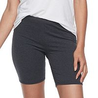 Junior's SO® Gray Long Bike Shorts