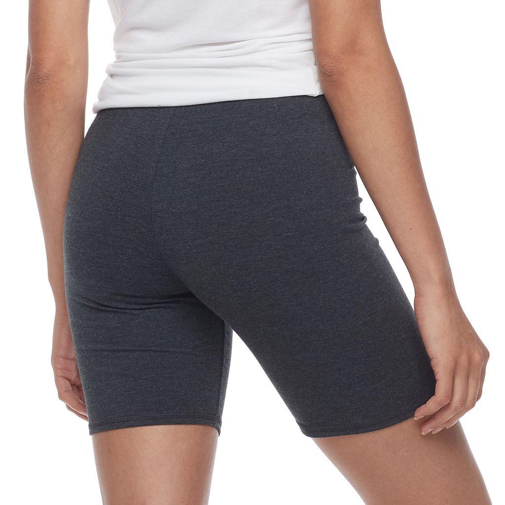 Junior's SO® Gray Long Bike Shorts