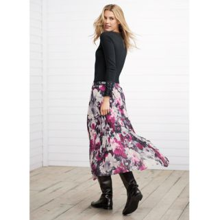 Women's Chaps Floral Georgette Pleated Skirt