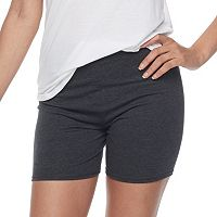Junior's SO® Gray Midi Bike Shorts