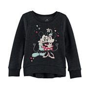 Disney's Mickey & Minnie Mouse Toddler Girl High-Low Fleece Pullover Top by Jumping Beans®
