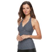 Women's Croft & Barrow® Polka-Dot Halterkini Top