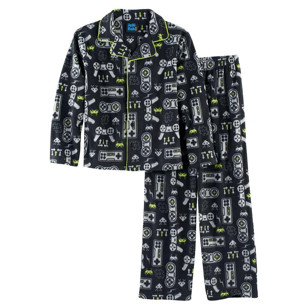 Boys 4-16 Jellifish 2-Piece Pajama Set