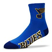 Adult For Bare Feet St. Louis Blues Team Color Quarter-Crew Socks