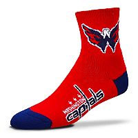 Adult For Bare Feet Washington Capitals Team Color Quarter-Crew Socks