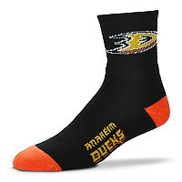 Adult For Bare Feet Anaheim Ducks Team Color Quarter-Crew Socks