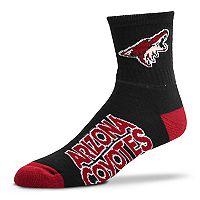 Adult For Bare Feet Arizona Coyotes Team Color Quarter-Crew Socks