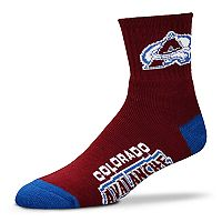 Adult For Bare Feet Colorado Avalanche Team Color Quarter-Crew Socks