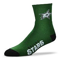 Adult For Bare Feet Dallas Stars Team Color Quarter-Crew Socks