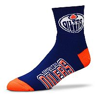 Adult For Bare Feet Edmonton Oilers Team Color Quarter-Crew Socks
