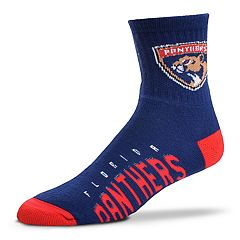 Adult For Bare Feet Florida Panthers Team Color Quarter-Crew Socks