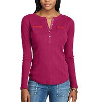 Women's Chaps Henley Top
