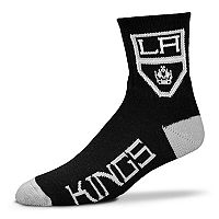 Adult For Bare Feet Los Angeles Kings Team Color Quarter-Crew Socks