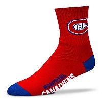 Adult For Bare Feet Montreal Canadiens Team Color Quarter-Crew Socks