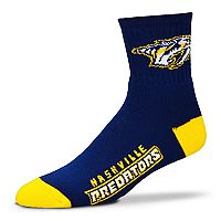 Adult For Bare Feet Nashville Predators Team Color Quarter-Crew Socks