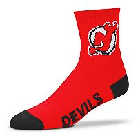 Adult For Bare Feet New Jersey Devils Team Color Quarter-Crew Socks