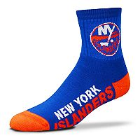 Adult For Bare Feet New York Islanders Team Color Quarter-Crew Socks