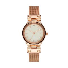 Women's Mesh Crystal Accent Watch