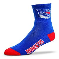 Adult For Bare Feet New York Rangers Team Color Quarter-Crew Socks