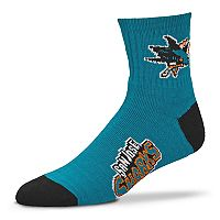 Adult For Bare Feet San Jose Sharks Team Color Quarter-Crew Socks