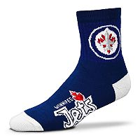 Adult For Bare Feet Winnipeg Jets Team Color Quarter-Crew Socks