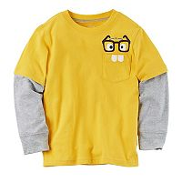 Boys 4-7 Carter's Mock-Layer Graphic Pocket Tee