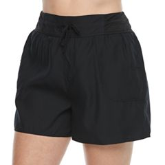 Plus Size Croft & Barrow® Tactel Drawstring Swim Shorts