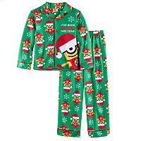 Boys 4-10 Despicable Me Minion Santa 2-Piece Pajama Set